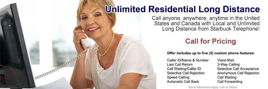 Unlimited Residential Long Distance